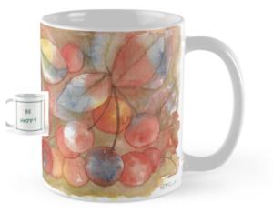 Be Happy Cherries Mug