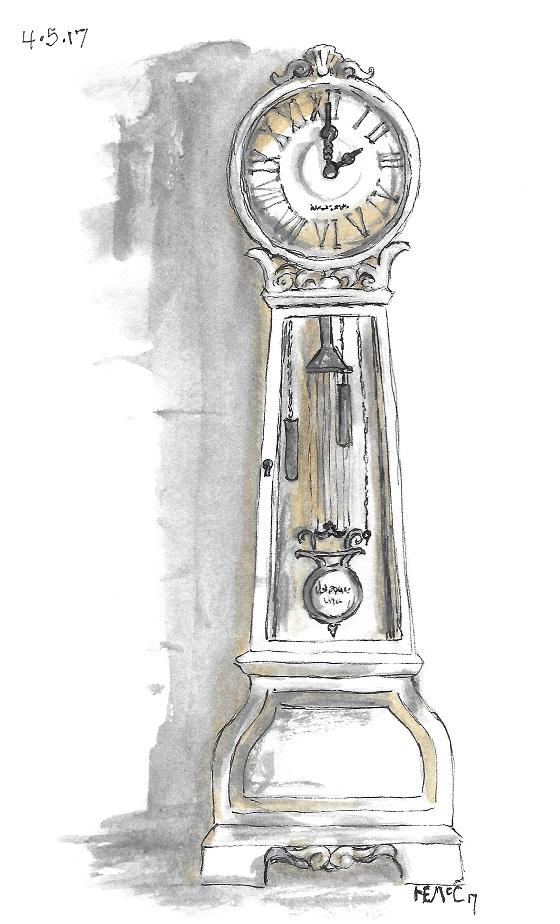 Scribble Picnic: Grandfather Clock - hanna mccown designs