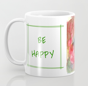 Cherries Be Happy Mug S6 text