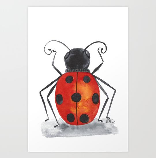 Ladybug One print