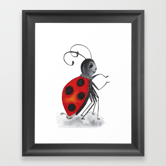 Ladybug Two framed art