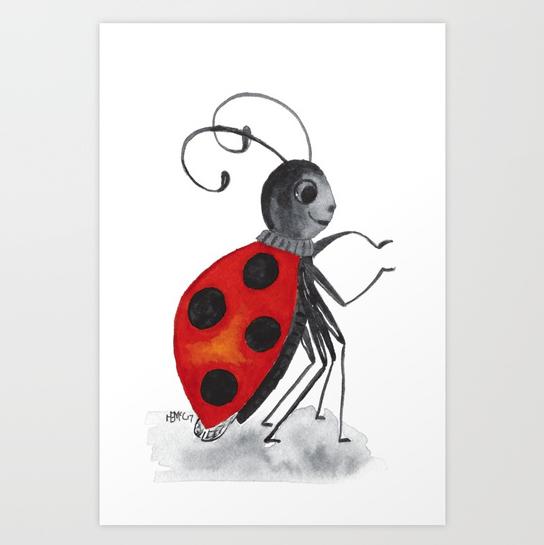 Ladybug Two print