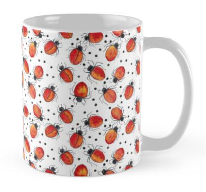 lost spot ladybug mug red bubble